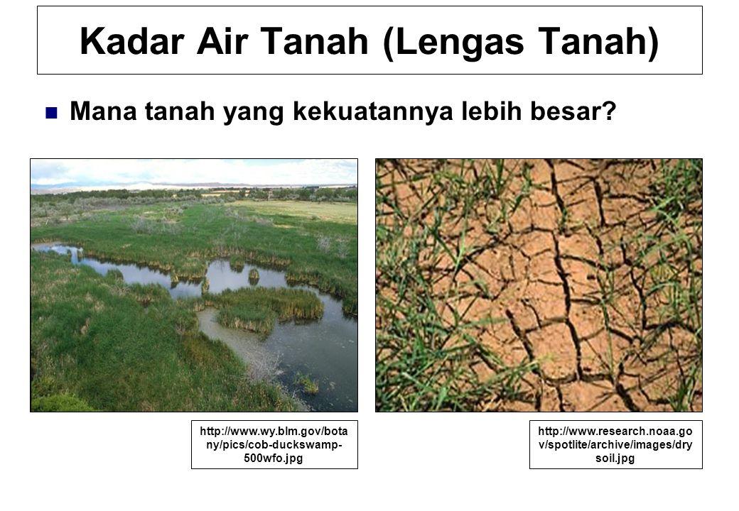 Kadar Air Tanah (Lengas Tanah)