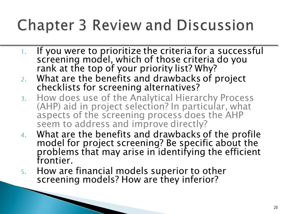 Chapter 3 Review and Discussion