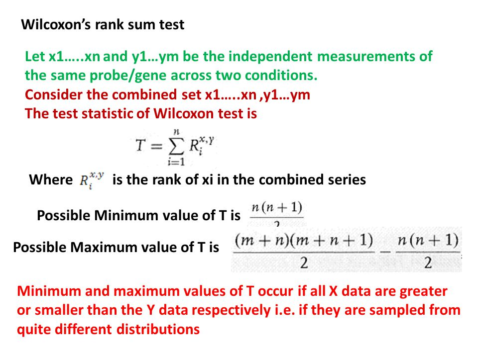 Wilcoxon's rank sum test