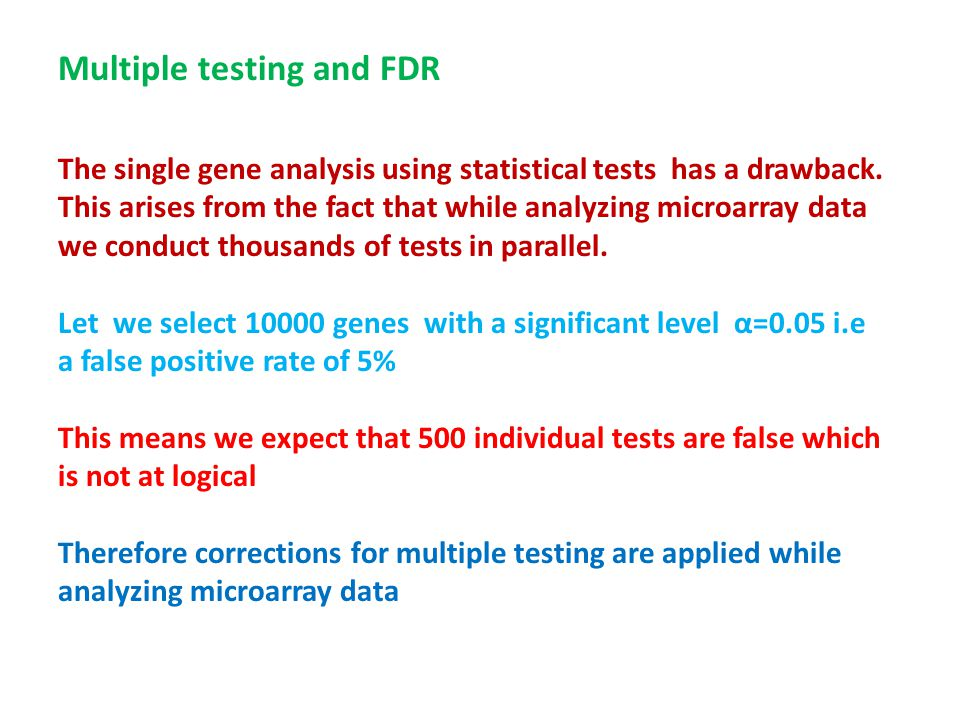 Multiple testing and FDR