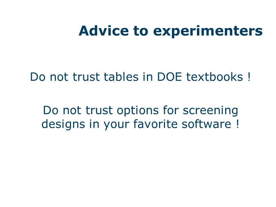 Advice to DOE textbook writers
