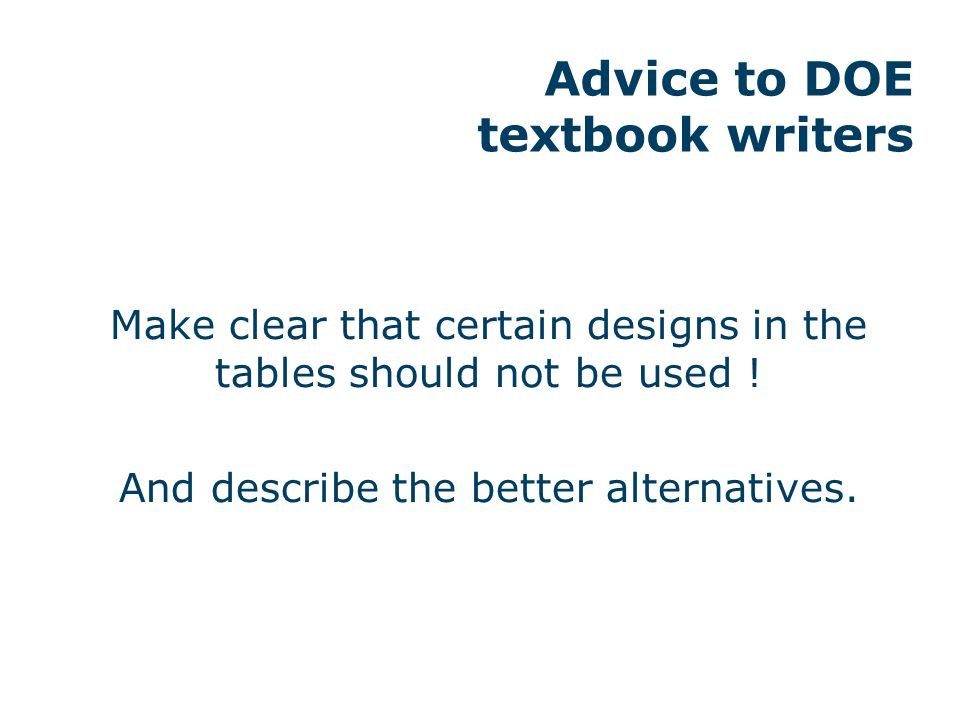 Advice to DOE software developers
