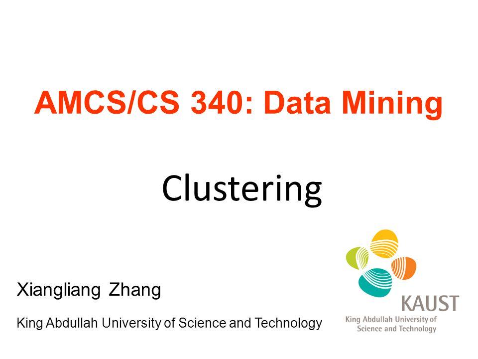 Clustering AMCS/CS 340: Data Mining Xiangliang Zhang