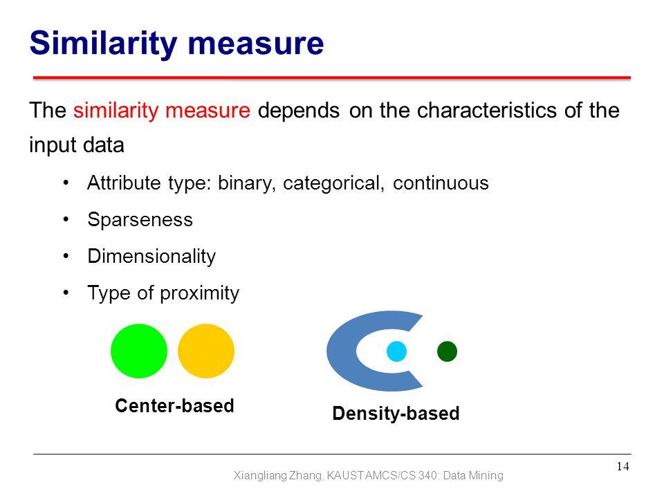 Xiangliang Zhang, KAUST AMCS/CS 340: Data Mining