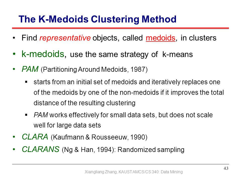 The K-Medoids Clustering Method
