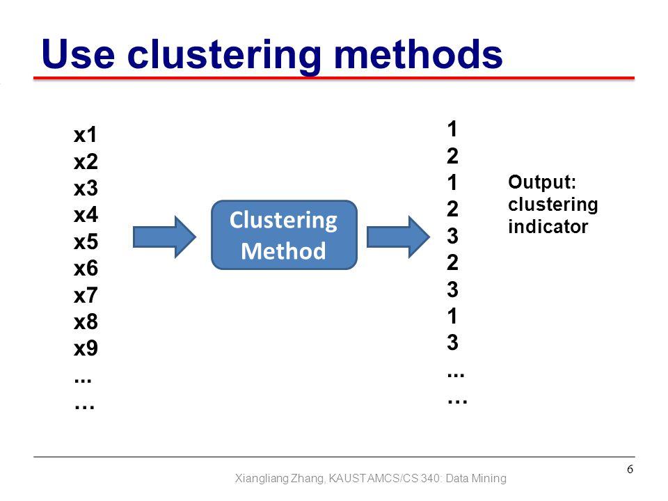 Use clustering methods