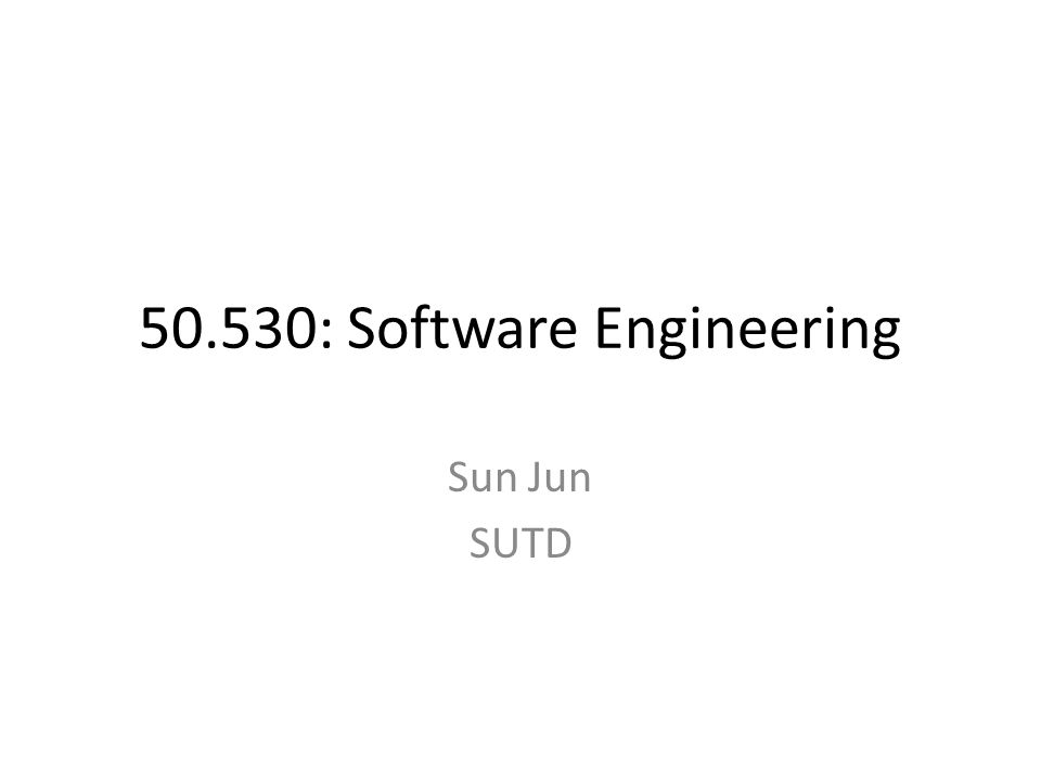 50.530: Software Engineering