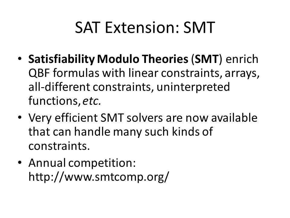 SAT Extension: SMT