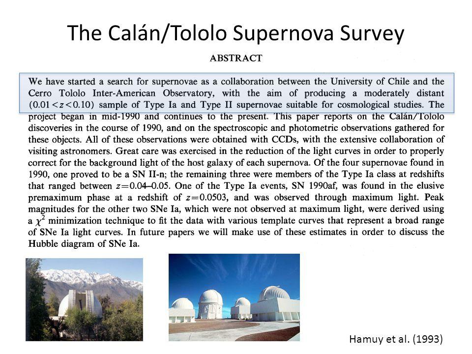The Calán/Tololo Supernova Survey