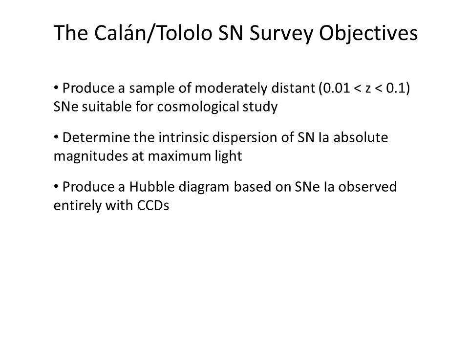 The Calán/Tololo SN Survey Objectives
