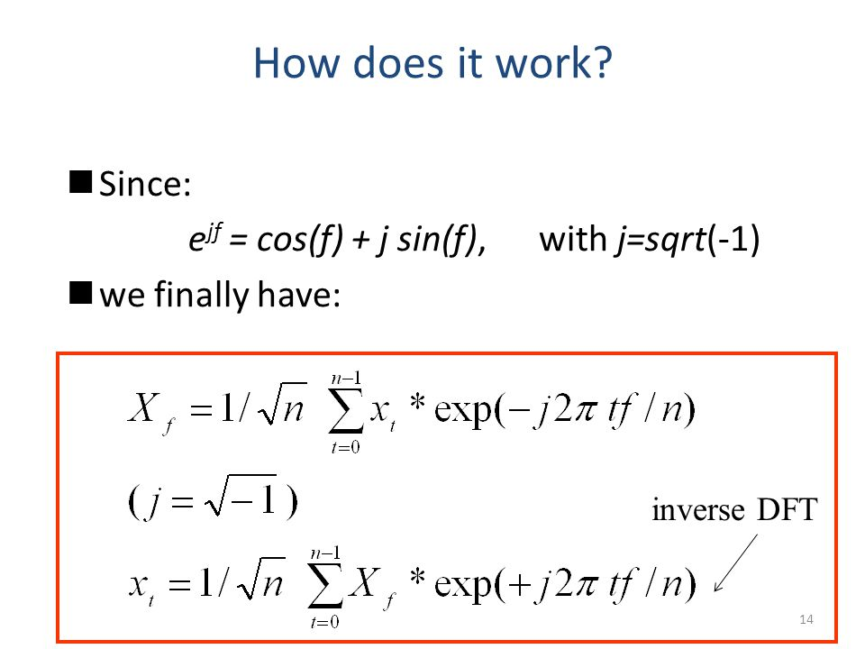 How does it work Since: ejf = cos(f) + j sin(f), with j=sqrt(-1)