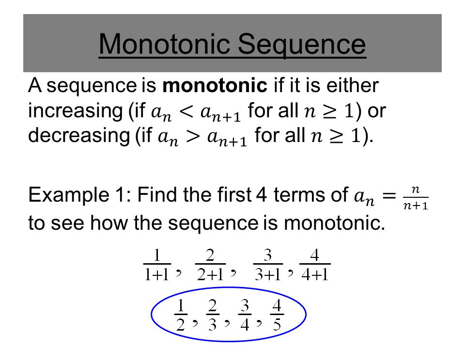 Monotonic Sequence
