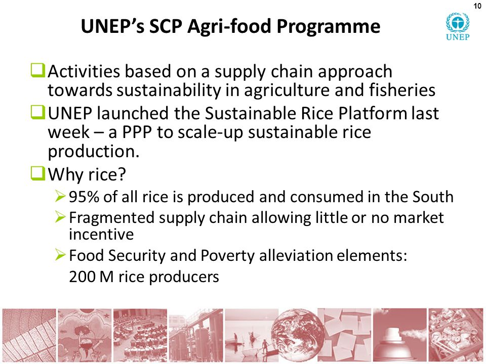 UNEP's SCP Agri-food Programme