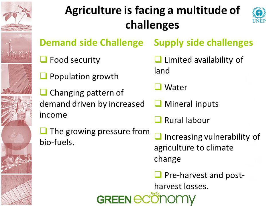 Agriculture is facing a multitude of challenges
