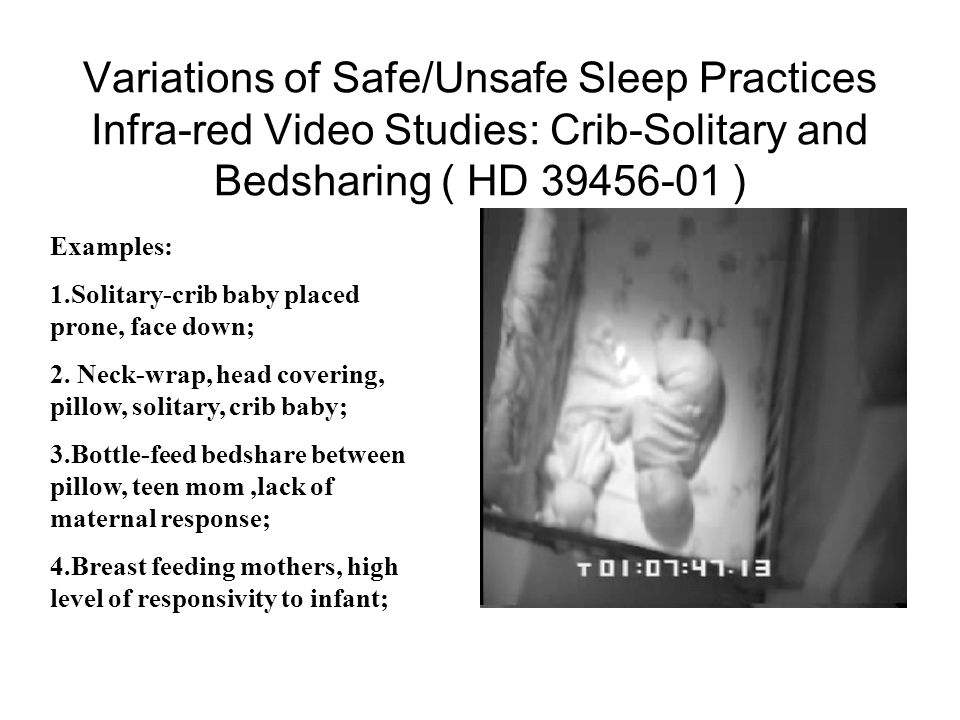Variations of Safe/Unsafe Sleep Practices Infra-red Video Studies: Crib-Solitary and Bedsharing ( HD 39456-01 )