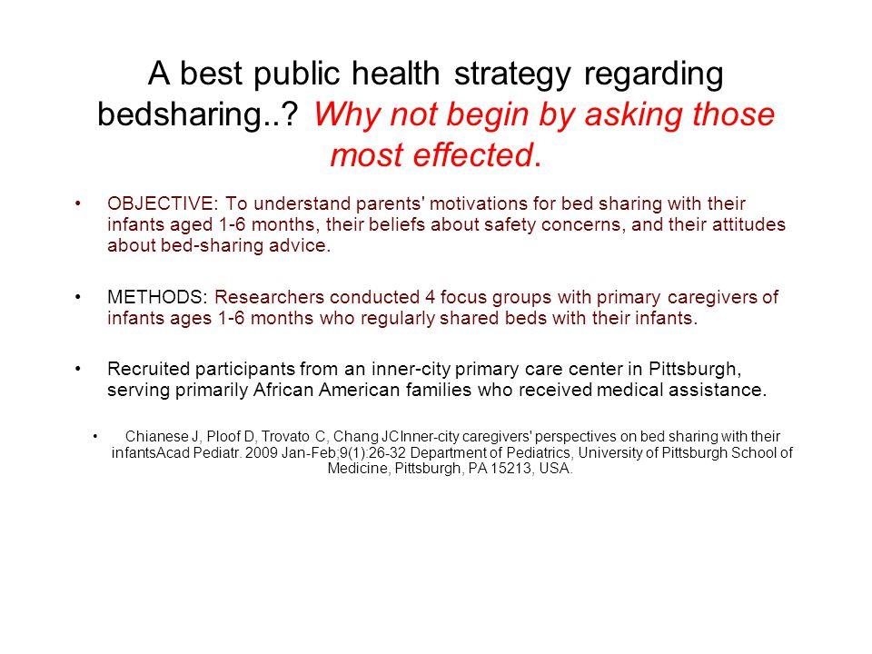 A best public health strategy regarding bedsharing