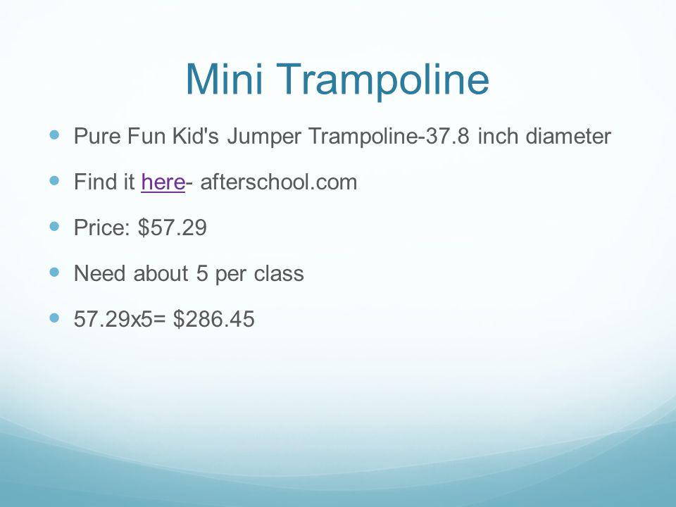 Mini Trampoline Pure Fun Kid s Jumper Trampoline-37.8 inch diameter