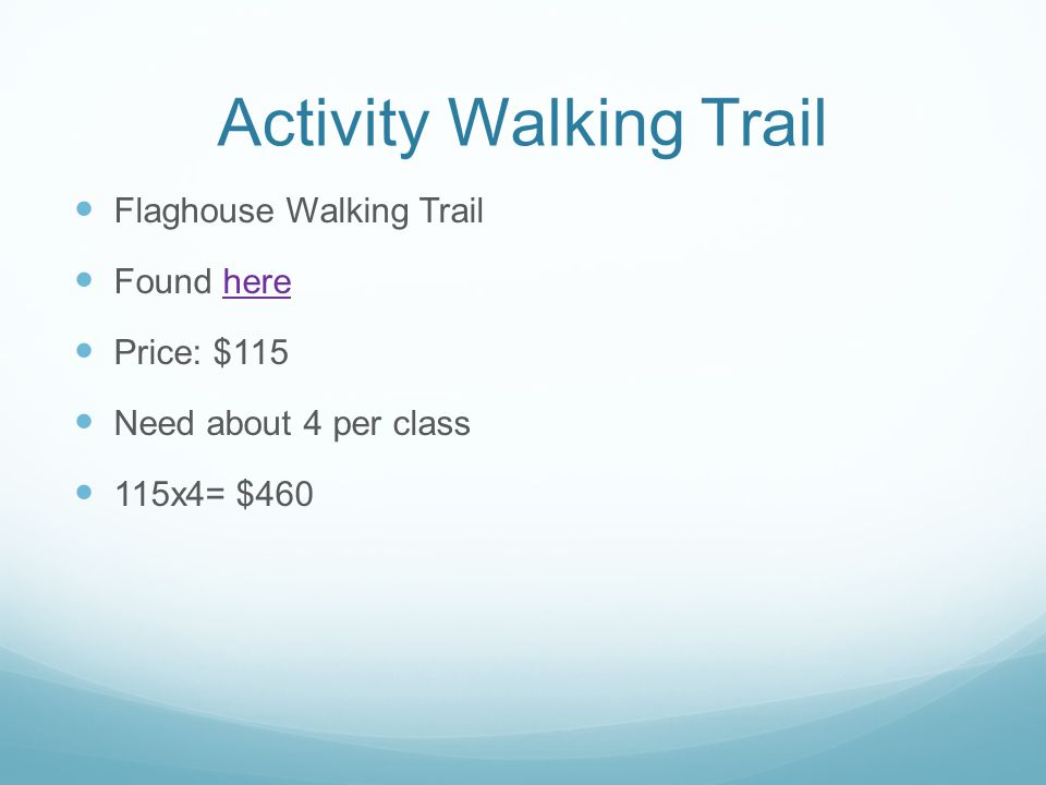 Activity Walking Trail