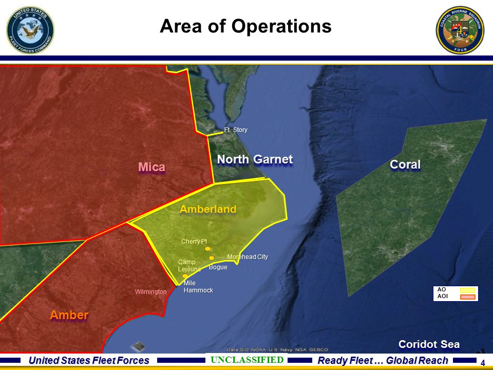 Area of Operations North Garnet Coral Mica Amber Amberland Coridot Sea