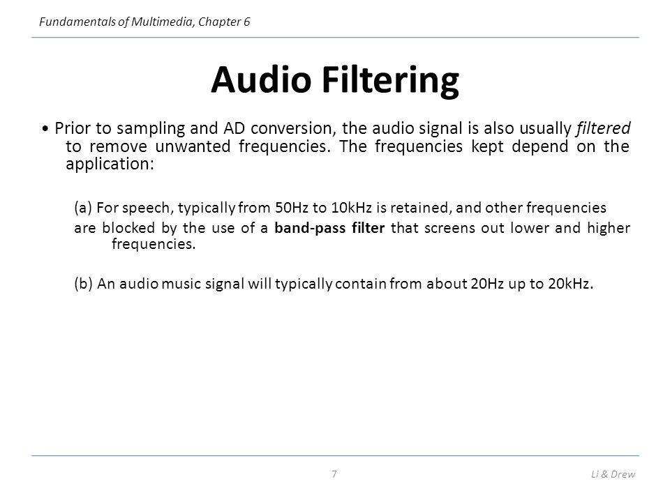 Audio Filtering