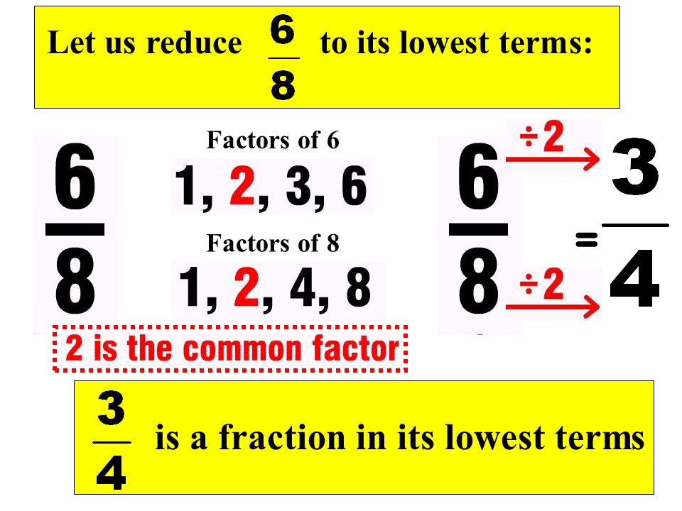 is a fraction in its lowest terms
