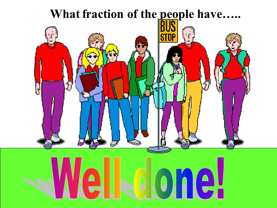 What fraction of the people have…..