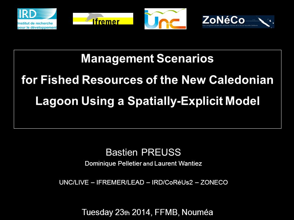 Management Scenarios for Fished Resources of the New Caledonian Lagoon Using a Spatially-Explicit Model