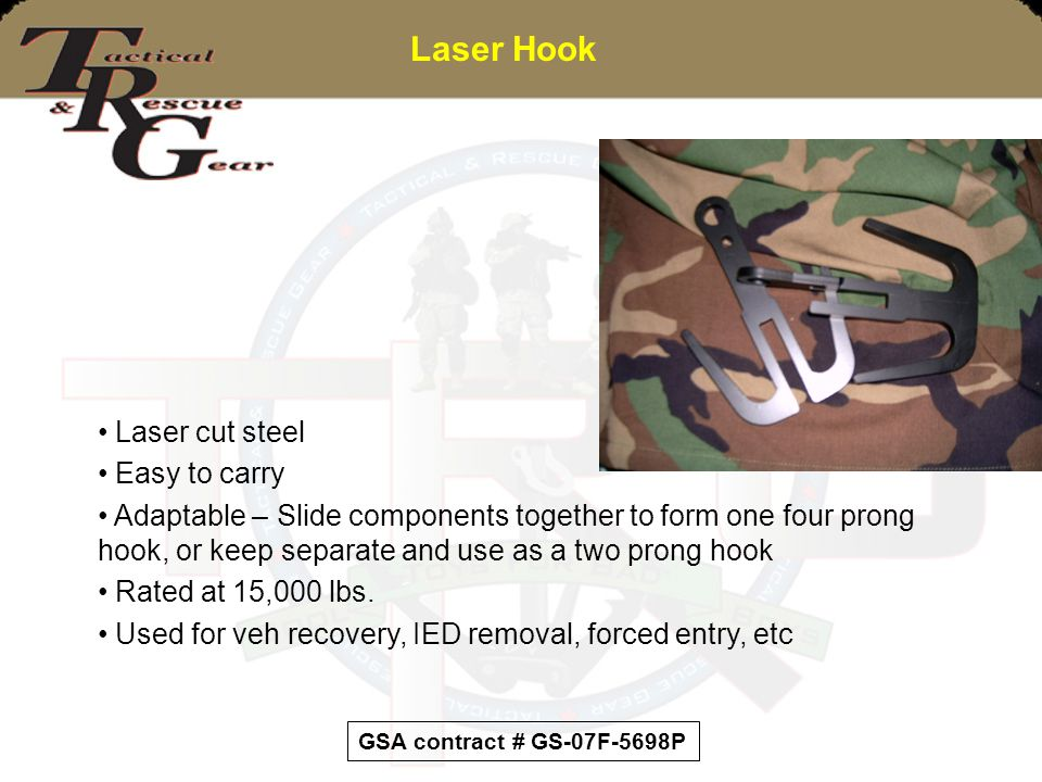 Laser Hook Laser cut steel Easy to carry