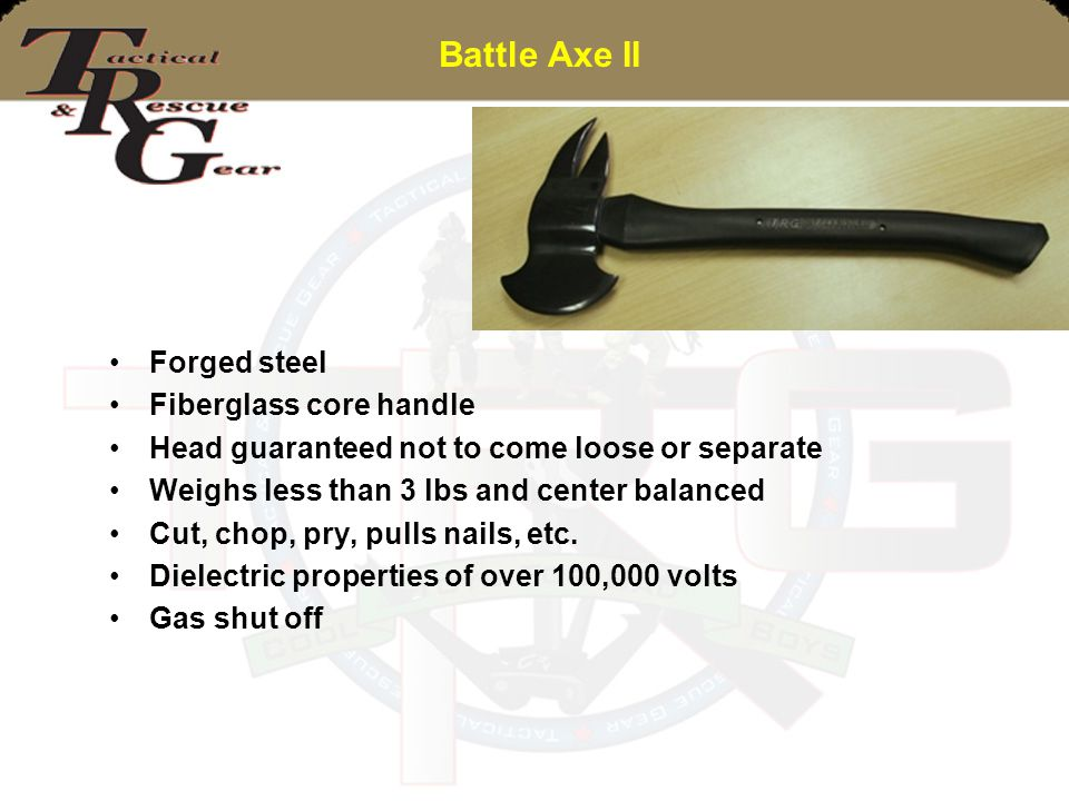 Battle Axe II Forged steel Fiberglass core handle