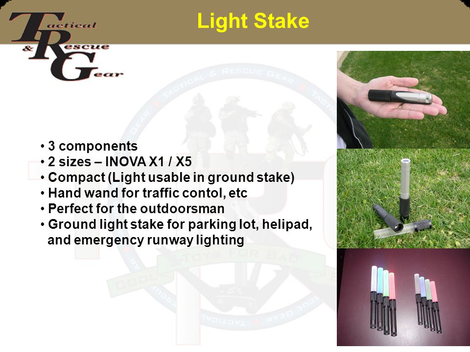 Light Stake 3 components 2 sizes – INOVA X1 / X5