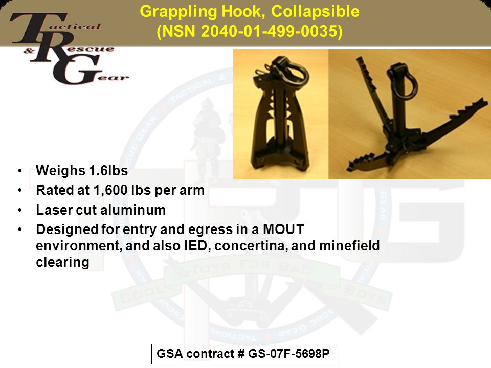 Grappling Hook, Collapsible (NSN 2040-01-499-0035)