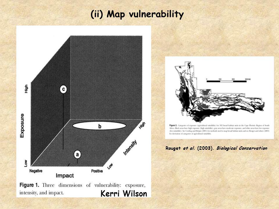 (ii) Map vulnerability