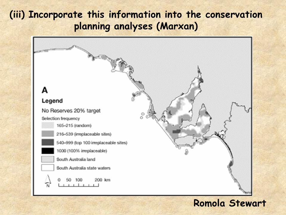 (iii) Incorporate this information into the conservation planning analyses (Marxan)