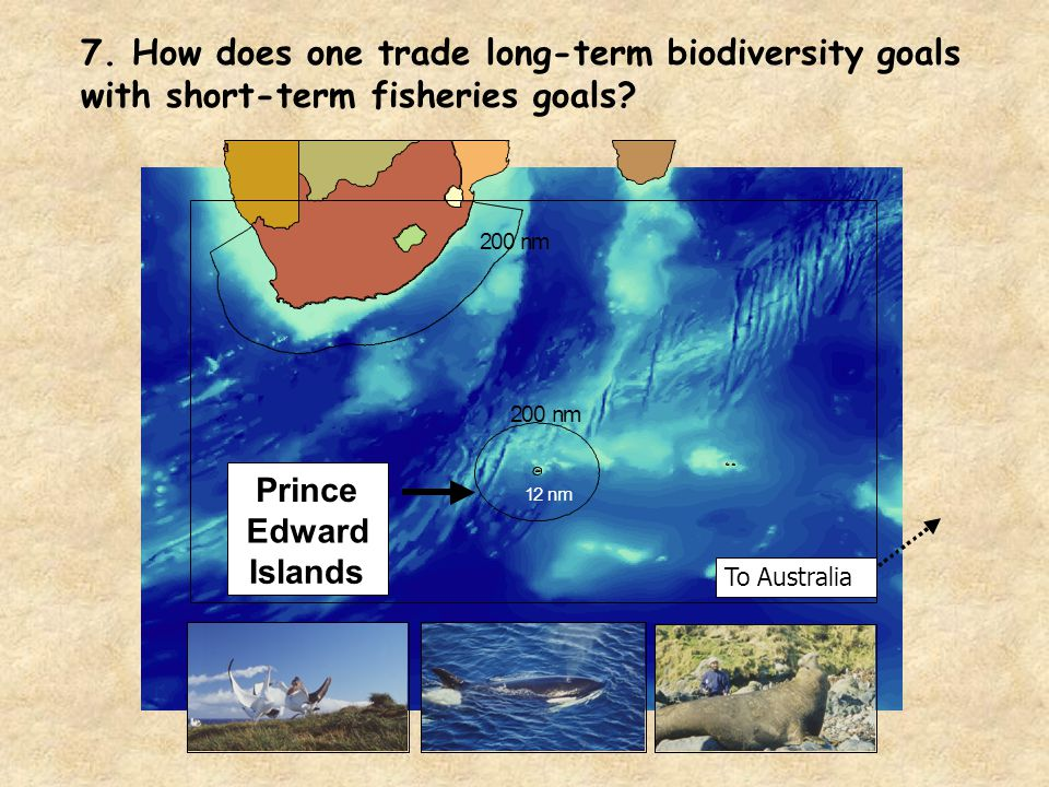 7. How does one trade long-term biodiversity goals with short-term fisheries goals