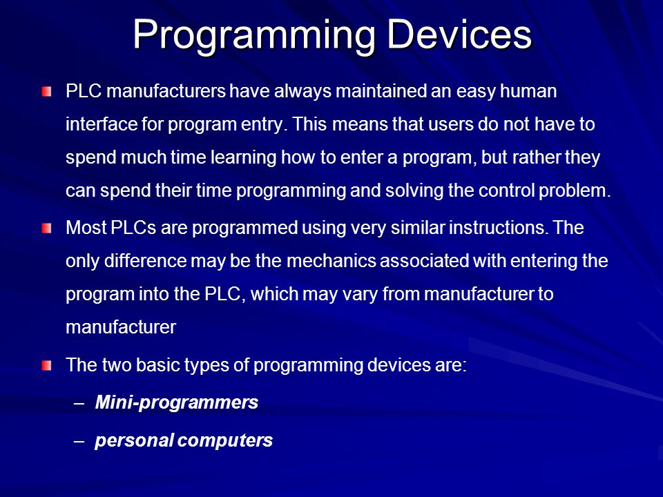 Programming Devices