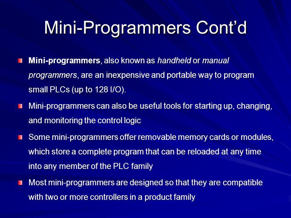 Mini-Programmers Cont'd