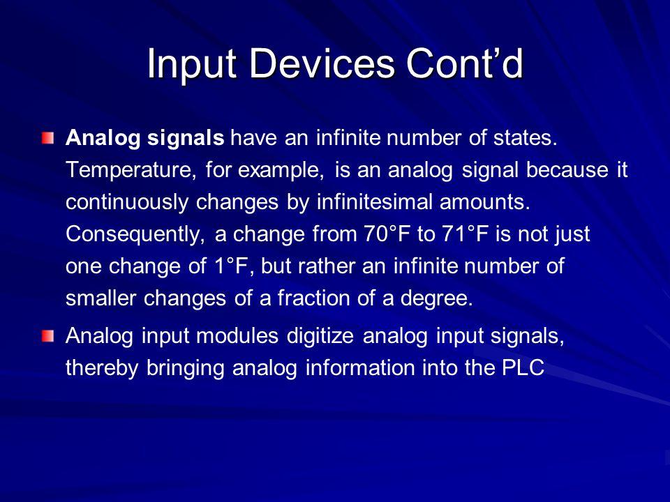 Input Devices Cont'd