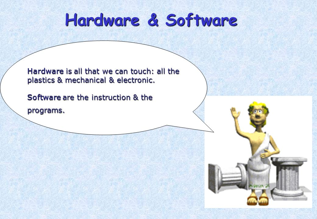 CFP AUXILIUM - TORINOHardware & Software. Hardware is all that we can touch: all the plastics & mechanical & electronic.