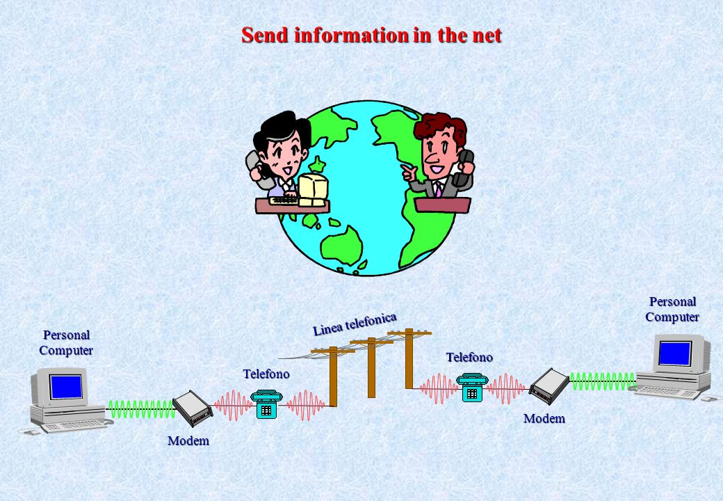 Send information in the net