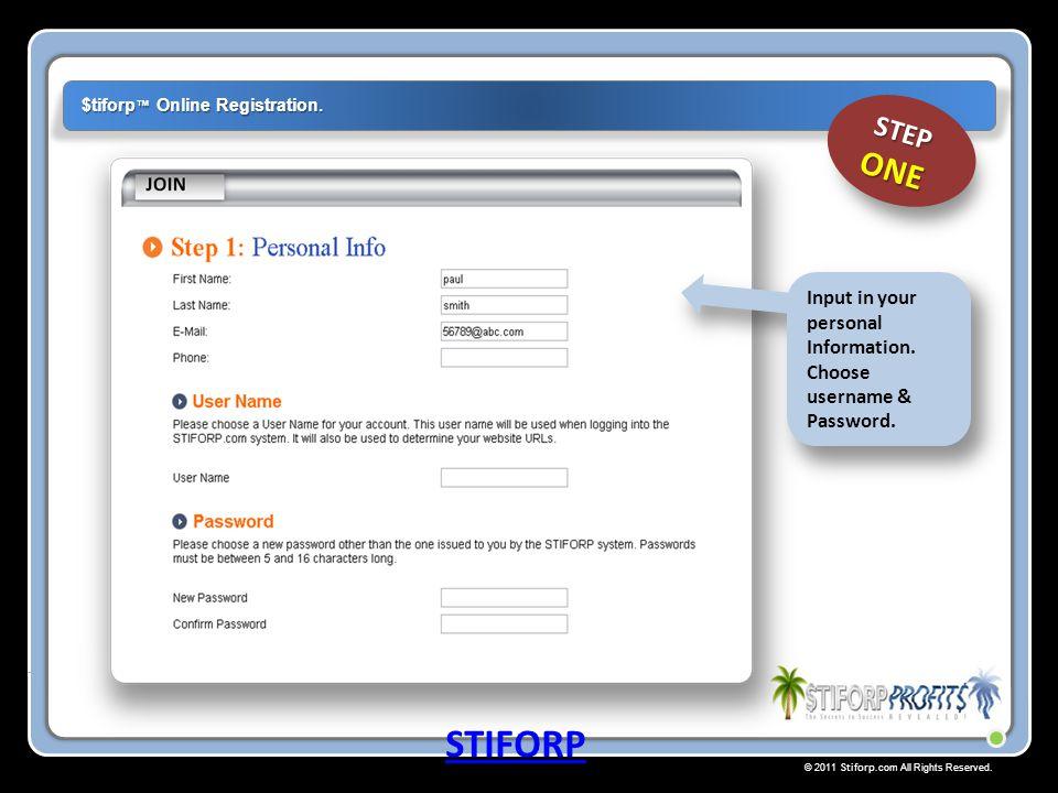 $tiforp™ Online Registration.