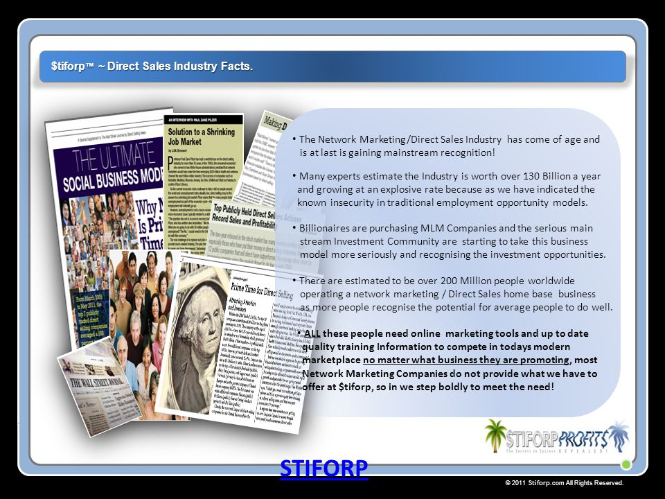 STIFORP $tiforp™ ~ Direct Sales Industry Facts.