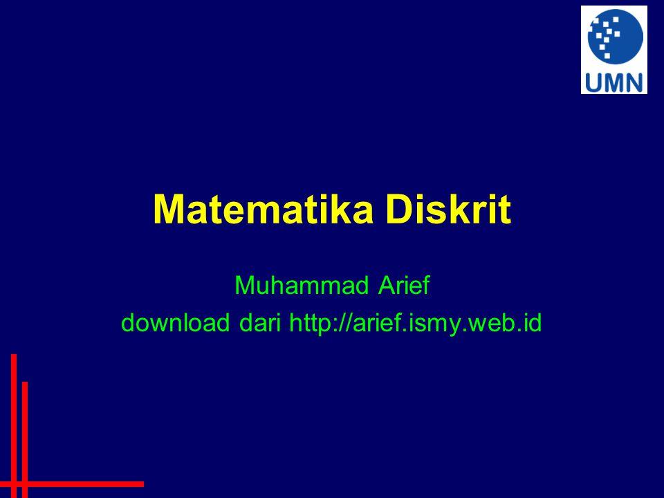 Muhammad Arief download dari http://arief.ismy.web.id