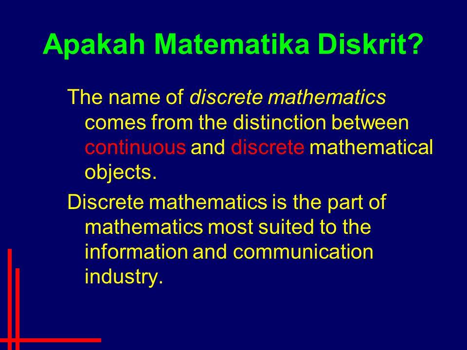 Apakah Matematika Diskrit