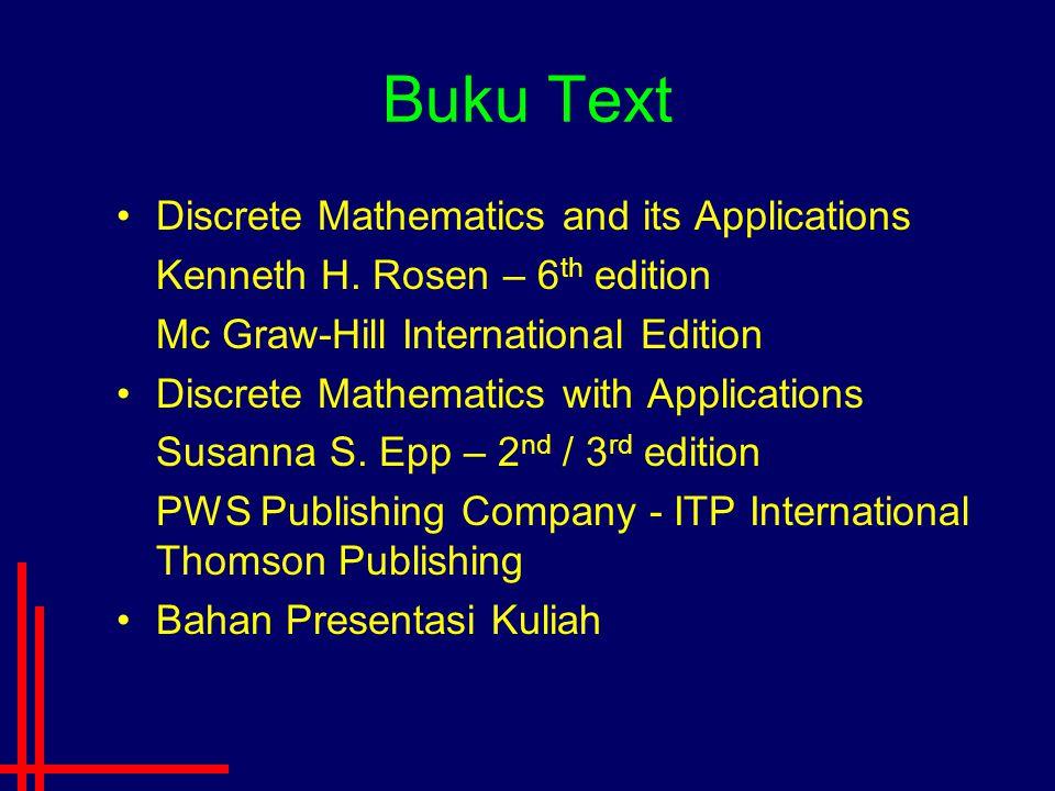 Buku Text Discrete Mathematics and its Applications