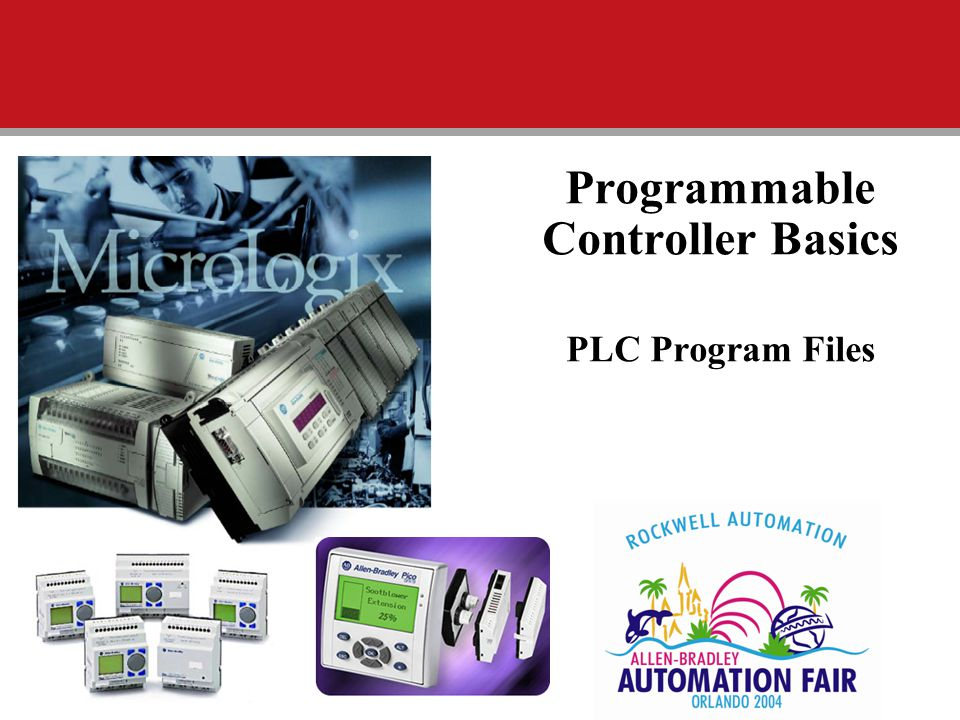 Programmable Controller Basics PLC Program Files