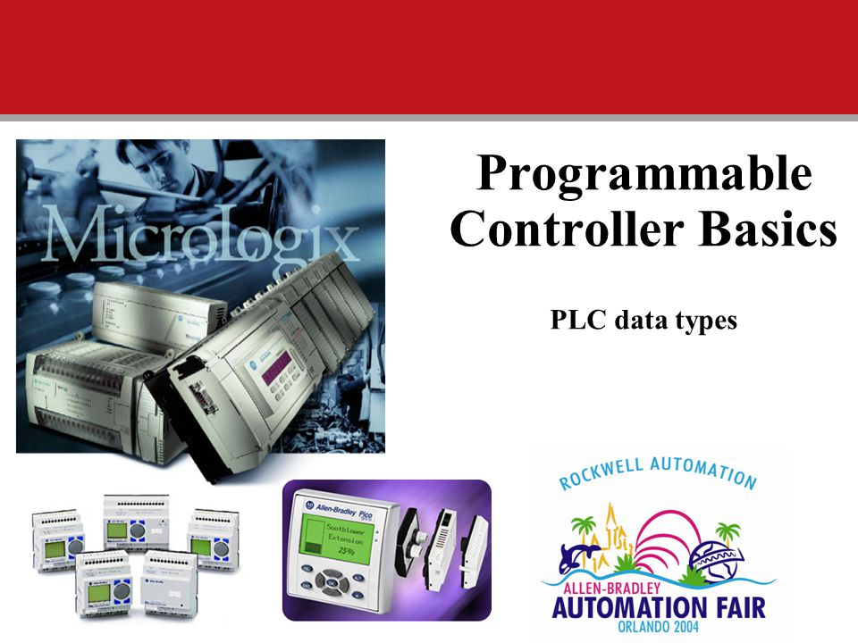 Programmable Controller Basics PLC data types