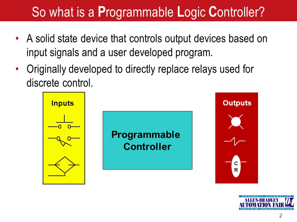 So what is a Programmable Logic Controller