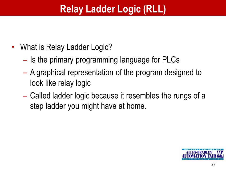 Relay Ladder Logic (RLL)