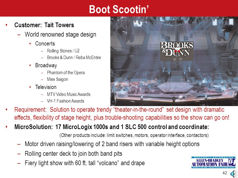 Boot Scootin' Customer: Tait Towers World renowned stage design