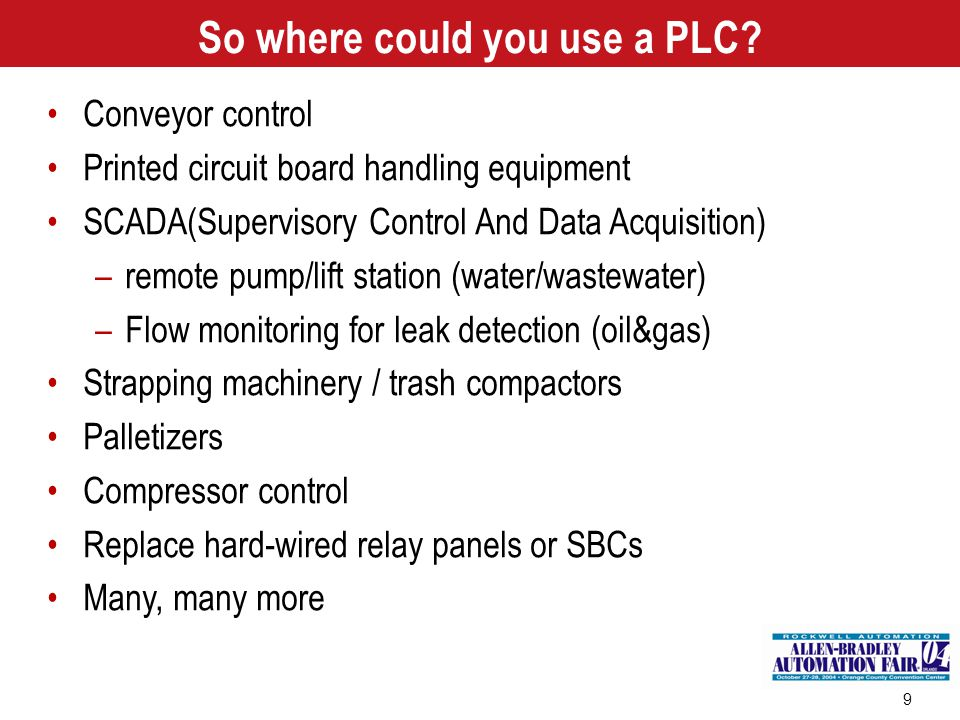 So where could you use a PLC